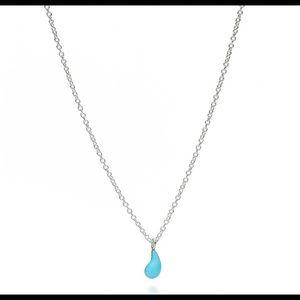 Tiffany&co teardrop pendant 16 inch